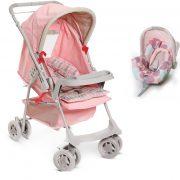 carrinho galzerano milano rosa bebe conforto
