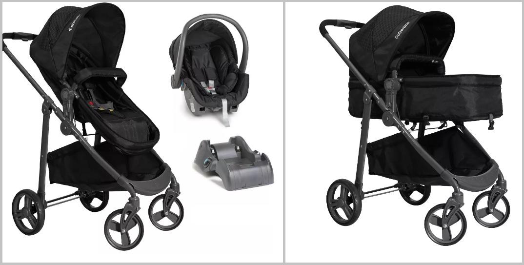 e893ee9c44 Carrinho galzerano olympus com bebê conforto e base - Safety Baby